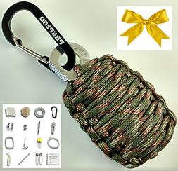 Paracord Survival Grenade Keychain --Moms Feel Safe; Your Ki