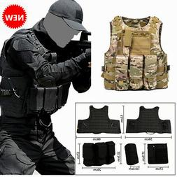 Police Military Vest Tactical MOLLE / PALs Adj Plate Carrier