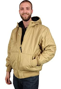Freeze Defense Men's Quilted Spring, Fall, Winter Jacket Coa