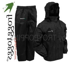 FROGG TOGGS RAIN GEAR-AS1310-01 MEN'S ALL SPORT BLACK SUIT H