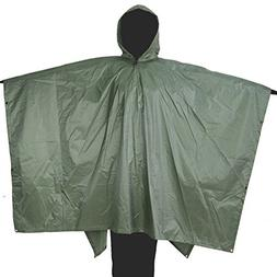 Annay Rain Poncho, Camo Multifunctional Rain Coat  with Hood