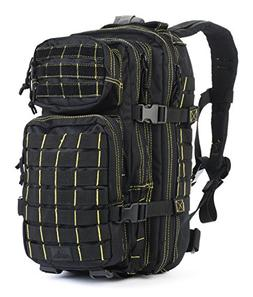 Red Rock Outdoor Gear Rebel Assault Backpack, Black/Yellow