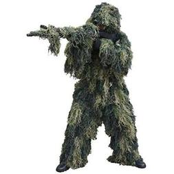 Red Clothing Rock Outdoor Gear Men's Ghillie Suit, Woodland