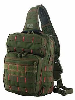 Red Rock Outdoor Gear - Rover Sling Pack, Olive Drab with Re