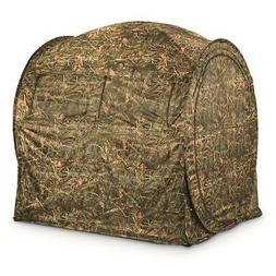 GUIDE GEAR Shooting Hunting Blind Hay Bale Large Window Back