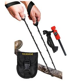 SOS Gear Pocket Chain Saws - Survival Handsaws with Embroide