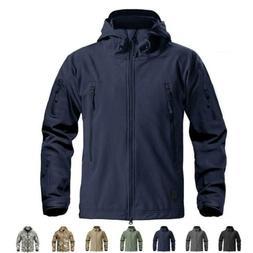Stylish Waterproof Mens Fleece Lining Jacket Coats Tactical