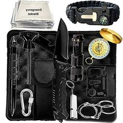 Emergency Survival Kit - Ultimate 15 in 1 EDC Gear - Tools i
