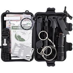 DRAGON NINJA Survival Kits 16 in 1 Outdoor Gear Paracord Bra