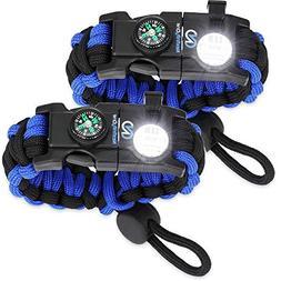 Nexfinity One Survival Paracord Bracelet - Tactical Emergenc