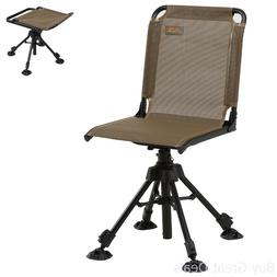 Swivel Hunting Chair With Back Stealth Hunter Camping Adjust