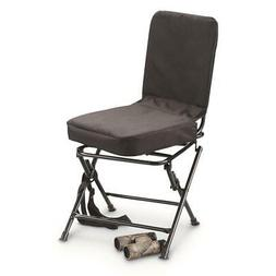 swivel hunting chair black 360 outdoor oversized