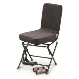 Guide Gear Swivel Hunting Chair Black Padded Back Folding Le