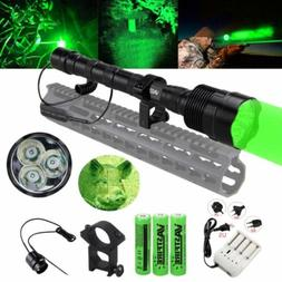 Tactical 500 Yard 3x T6 Green LED Predator Coyote Gear Hog H