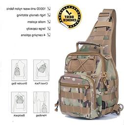 Outdoor Tactical Backpack Military Sport Bag Molle Chest Pac