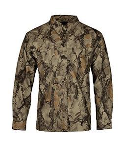 Natural Gear Tactical Bush Shirt, Camo Long Sleeve Shirt wit