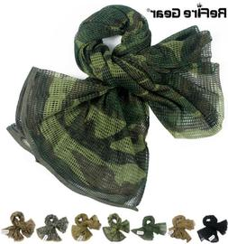 ReFire Gear Tactical Camouflage Mesh Scarf Cotton Conceal Hu