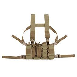 DETECH Tactical Chest Rig Combat Recon Gear Vest With Magazi