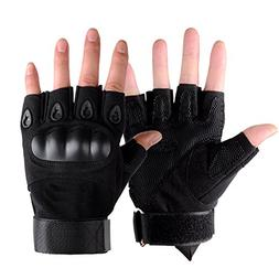 HaloVa Tactical Gloves, Half Finger Hard knuckle Military Gl