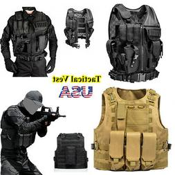 Tactical Military Molle / PALs Adj Plate Carrier Vest Police