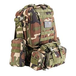 Z ZTDM 50L Outdoor Tactical Molle Backpack 3 Day Assault Pac
