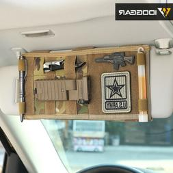 IDOGEAR Tactical MOLLE Vehicle Visor Panel Car Sun Visor Org