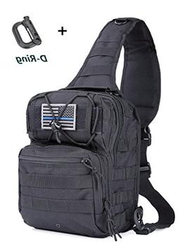 boxuan Outdoor Tactical Shoulder Backpack(+Flag Patch),