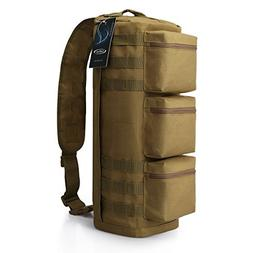 G4Free Tactical Sling Bag Chest Pack, Military Assault Messe