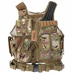 tactical vest adjustable breathable airsoft