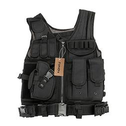 Lixada Tactical Vest Military Airsoft Vest Adjustable Breath