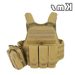 Tactical Vest Body Armor JPC Plate Carrier Ammo Magazine Che
