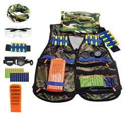 Amzmalt Tactical Vest Kit, Kids Elite Tactical Vest Kit for