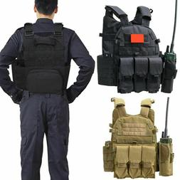 Tactical Vest Loaded Gear Molle Adjustable Military Assault