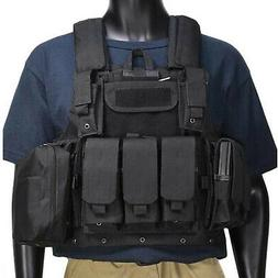 Tactical Vest Loaded Gear Molle Adjustable Military Assault
