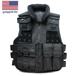 Tactical Vest Military Carrier Molle Police Airsoft Combat A