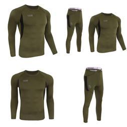 Thermal Underwear Set Winter Hunting Gear Sport Long Johns B