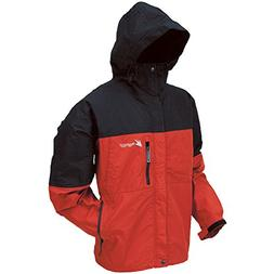 Frogg Toggs Toadz Toad Rage Rain Jacket, Red/Black, Size XX-
