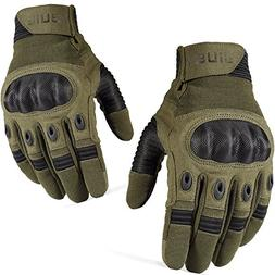 JIUSY Touch Screen Tactical Military Hard Knuckle Full Finge