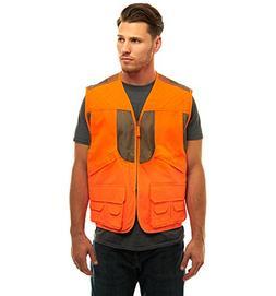 TrailCrest Mens Blaze Orange Safety Deluxe Front Loader Vest