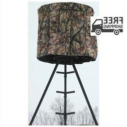 Tripod Hunting Blind Steel Frame Weather Resistant Outdoor S