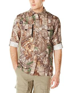 10X Men's Ultra-Lite Long Sleeve Shirt with Pockets, Real Tr