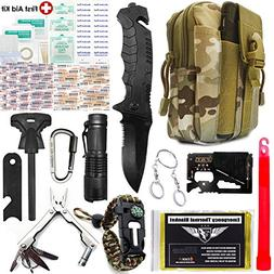 EVERLIT Upgraded Emergency Survival First Aid 80-in-1 Tactic