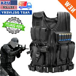 US Military Vest Tactical Holster Police Molle Assault Comba