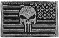 Backwoods Barnaby USA American Flag Punisher Skull Tactical