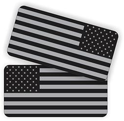 USA American Flags AR15 Lower Stickers / Hard Hat Decals /