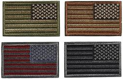 Bundle 4 Pieces-USA Flag Patches-Multi-colored Tactical Gear