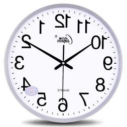 Wall Clocks - 14 Inch Mute Wall Clock Living Room Simple Fas