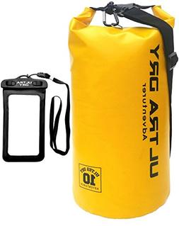 Ultra Dry 10L Waterproof Bag and Phone Dry Bag with Adjustab
