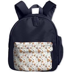 Dianqusha Winter Animals Pattern The Boy's Bag Is A School B
