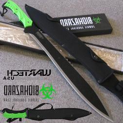 ZOMBIE GEAR - Apocalypse - MACHETE Full Tang Hunting KNIFE w